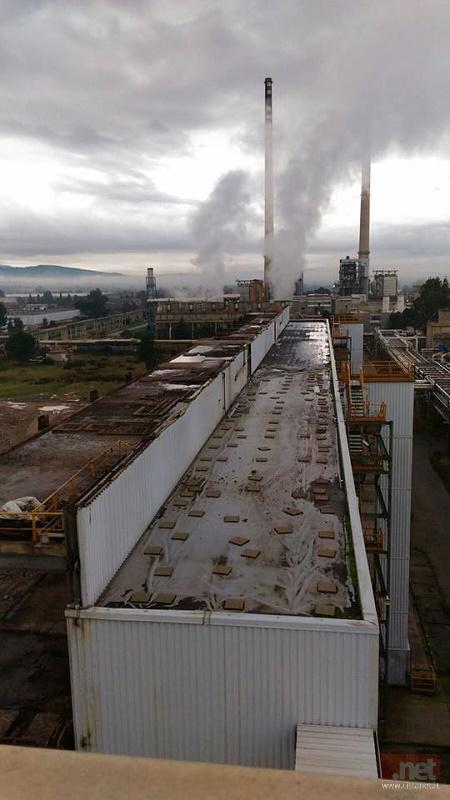 l'impianto OP visto dall'alto