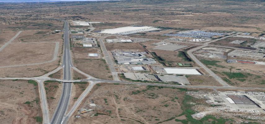 Foto google maps area industriale di Tossilo