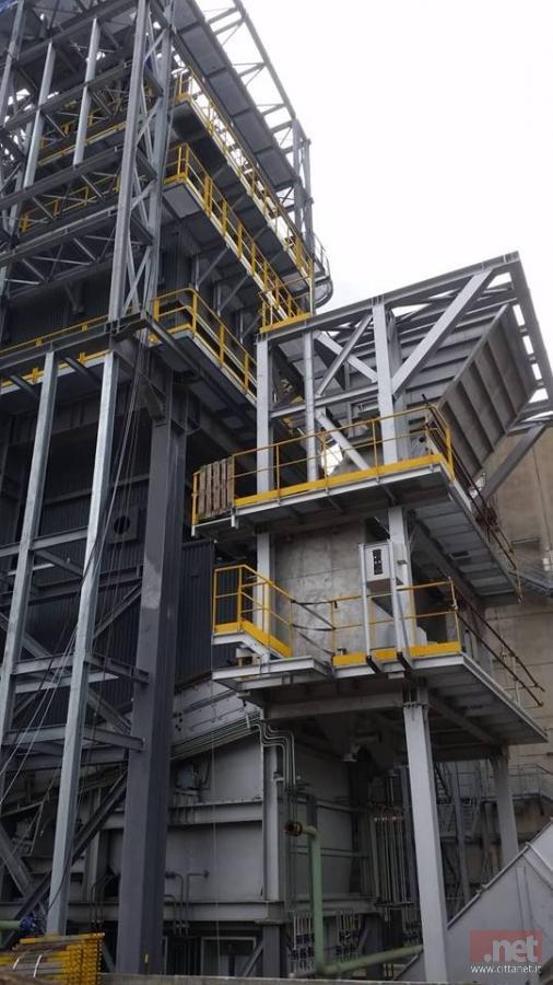 La struttura in costruzione del nuovo Inceneritore di Tossilo