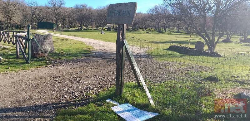 L'ingresso del sito montano di Ortachis