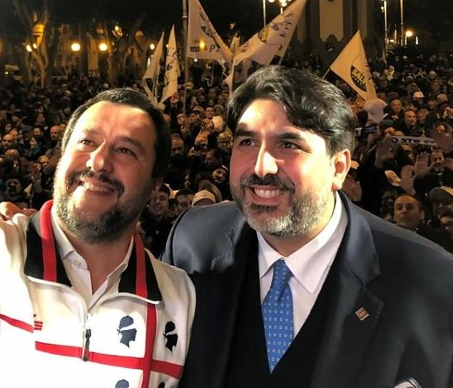 Christian Solinas e Matteo Salvini